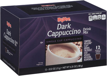Hy-Vee® Dark Cappuccino Single Serve Cup Drink Mix 12 ct Box