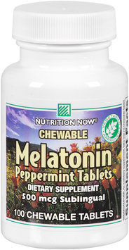 Nutrition Now® Chewable Melatonin Peppermint Tablets 100 ct. Plastic Bottle