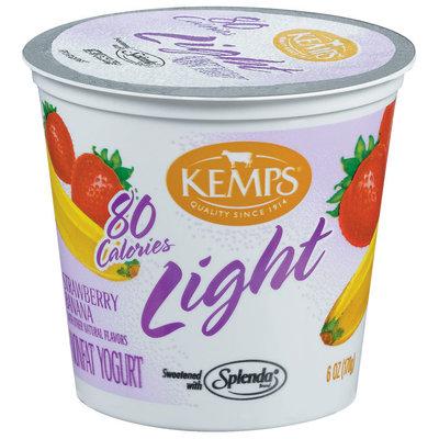 Kemps Light Strawberry Banana Nonfat Yogurt 6 Oz Cup