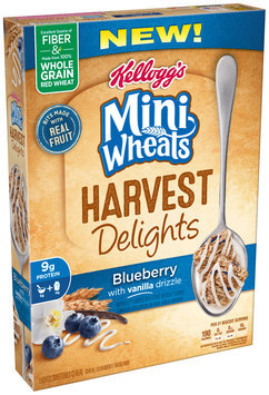 Kellogg's Mini Wheats Harvest Delights Blueberry with Vanilla Drizzle Cereal