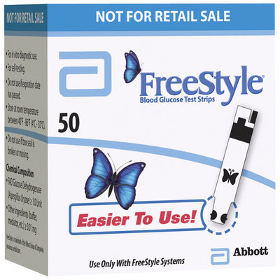 Freestyle For In Vitro Diagnostic Use Test Strips Not For Retail Sale 50 Ct Box
