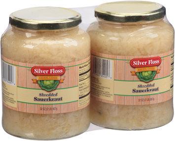Silver Floss® Barrel Cured Shredded Sauerkraut 2-32 oz. Jars