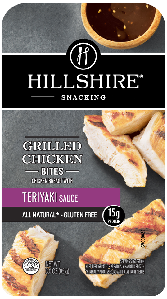 Hillshire® Snacking Grilled Chicken Bites with Teriyaki Sauce 3.0 oz. Tray