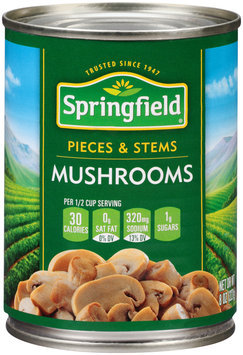 Springfield® Pieces & Stems Mushrooms 8 oz. Can