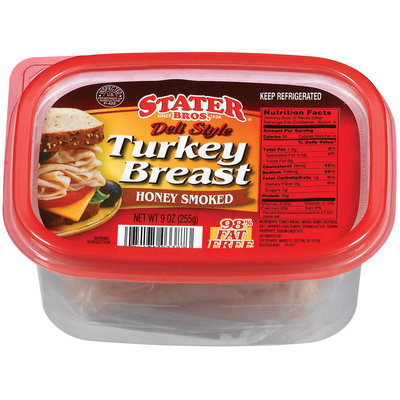Stater Bros. Deli Style Honey Smoked Turkey Breast 9 Oz Tub
