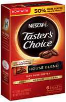 NESCAFE TASTER'S CHOICE House Blend Instant Coffee 6-0.1 oz. Single Serve Packets