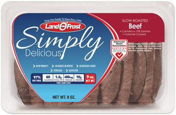 Land O'Frost® Simply Delicious™ Slow Roasted Beef 9 oz. Tray