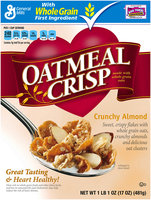 Oatmeal Crisp® Crunchy Almond Cereal 17 oz. Box