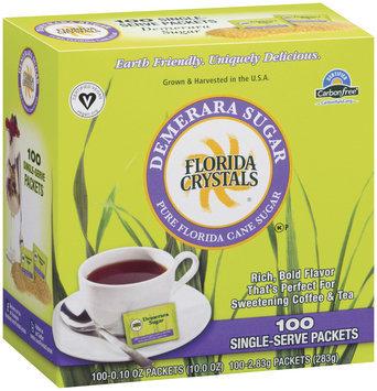 Florida Crystals Pure Florida Cane 0.10 Oz Packets Demerara Sugar 100 Ct Box