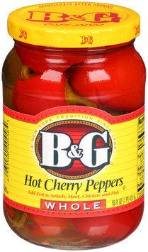 B&G® Hot Cherry Peppers Whole 16 fl. oz. Bottle