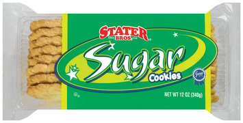 Stater Bros. Sugar Cookies 12 Oz Plastic Container