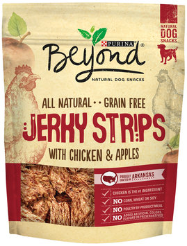 Purina Beyond Jerky Strips with Chicken & Apples Natural Dog Snacks 9 oz. Pouch