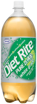 Diet Rite® Pure Zero™ White Grape Diet Soda 2 L Bottle