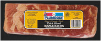 Plumrose Thick Sliced Hearty Country Style Bacon Maple  20 Oz