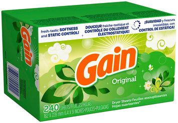 Gain Dryer Sheets, Original, 240 count