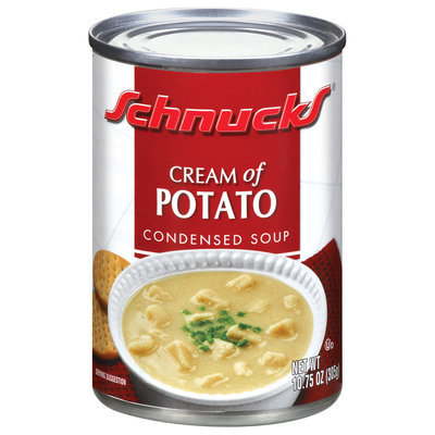 Schnucks Condensed Cream of Potato Soup 10.75 Oz Can