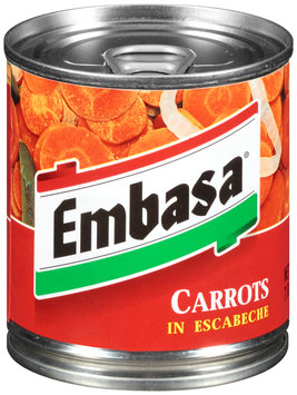 Embasa® Carrots in Escabeche 7 oz. Can