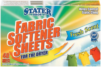 Stater Bros. Fresh Scent For The Dryer Fabric Softener Sheets 40 Ct Box