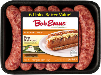 Bob Evans® Beer Bratwurst Links 6 ct 19 Oz Tray