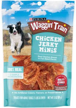 Purina Waggin' Train Chicken Jerky Minis Dog Treats 3 oz. Pouch