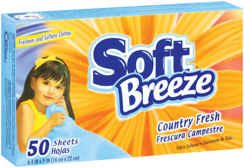 Soft Breeze Country Fresh Fabric Softener Dryer Sheets 50 Ct Box