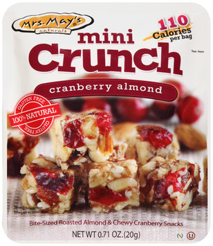 Mrs. May's® Naturals Mini Crunch Cranberry Almond Snacks 0.71 oz. Packet