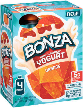 Bonza™ Orange One-Handed™ Yogurt 4-3.5 oz. Pouches