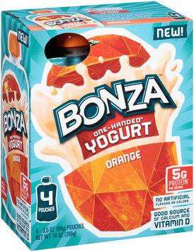Bonza™ Orange One-Handed™ Yogurt 4-3.5 oz. Pouches