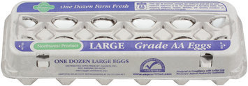 Haggen Large Farm Fresh Grade AA Eggs 12 Ct Carton