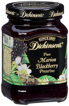 Dickinson's® Pure Marion Blackberry Preserves 10 oz. Jar