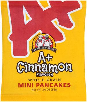 de wafelbakkers® a+ cinnamon whole grain mini pancakes