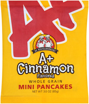 De Wafelbakkers® A+ Cinnamon Whole Grain Mini Pancakes 3.0 oz. Bag
