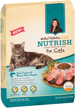 Rachael Ray Nutrish® Real Salmon & Brown Rice Recipe Premium Cat Food 14 lb. Bag
