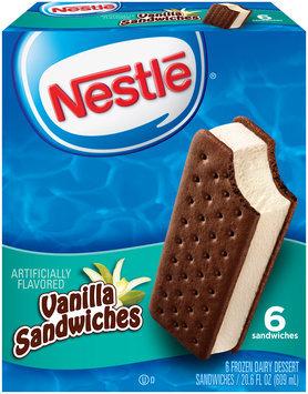 Nestlé Vanilla Frozen Dairy Dessert Sandwiches 6 ct Box