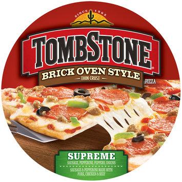 tombstone brick oven style thin crust supreme pizza