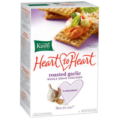 Kashi® Heart To Heart Roasted Garlic Whole Grain Crackers