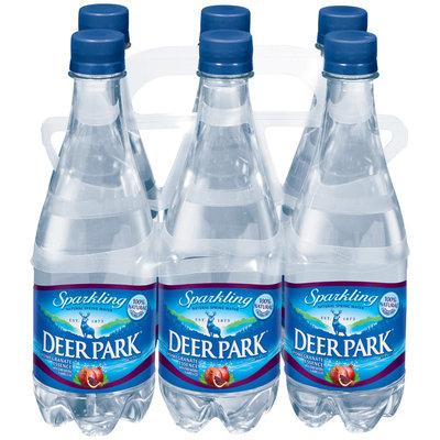 Deer Park Sparkling Natural Spring Water Pomegranate .5L Single & 6 Pk Plastic Bottles
