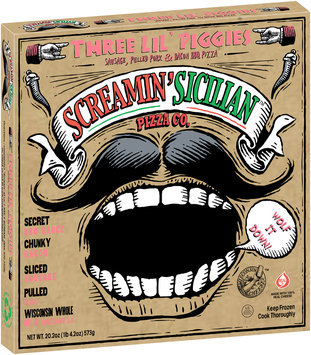 Screamin' Sicilian™ Pizza Co. Three Lil' Piggies Pizza 20.2 oz. Box