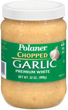 Polaner Chopped Premium White Garlic 32 Oz Plastic Jar
