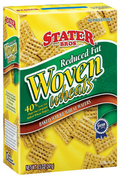 Stater Bros. Baked Whole Wheat Wafers Reduced Fat Woven Wheats 8.5 Oz Box