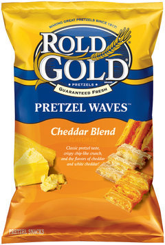 Rold Gold® Waves Cheddar Blend Pretzel Snacks