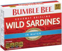 Bumble Bee® Gourmet Brisling Wild Sardines in Water 3.75 oz. Box
