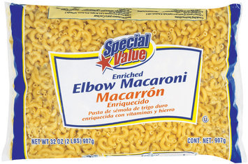 Special Value  Elbow Macaroni 32 Oz Bag