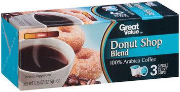 Great Value™ Donut Shop Blend 100% Arabica Coffee 1.15 oz. Box