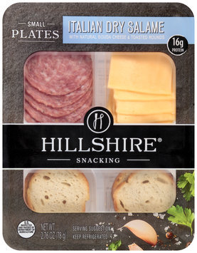 Hillshire® Snacking Small Plates Italian Dry Salame with Natural Gouda Cheese & Toasted Rounds 2.76 oz. Tray