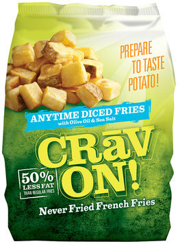 CRAV ON! Anytime Diced Never Fried French Fries 32 Oz Bag
