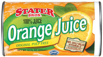 Stater Bros. Original Pulp Free Frozen Concentrated Orange Juice
