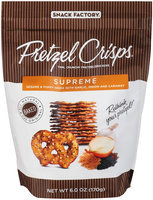 Pretzel Crisps Supreme Pretzel Crackers 6 oz. Bag