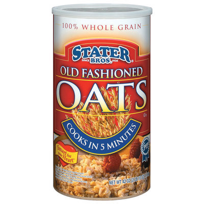 Stater Bros. 100% Whole Grain Old Fashioned Oats 42 Oz Cylinder