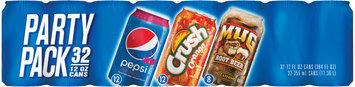 Wild Cherry Pepsi®/Orange Crush®/Mug® Root Beer Party Pack 32 Pack 21 fl. oz. Cans